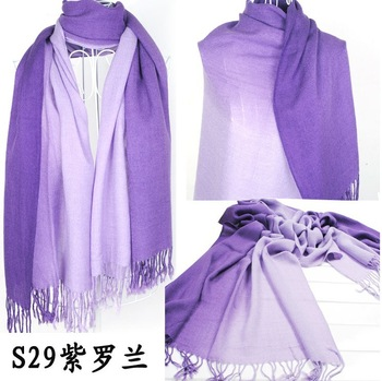 2013 Brand New Women's Fashion Long large Soft Shawl Stole Cashmere Scarf Gradient scarf wraps