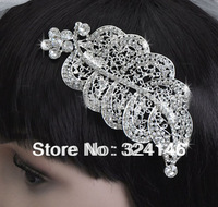 Amazing new fashion crystal bridal wedding hair combs silver hair jewelry retail / wholesale