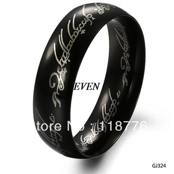Free Shipping Fashion Accessories Jewelry 316L Stainless Steel Male  Men Titanium Ring  The Lord of the Rings