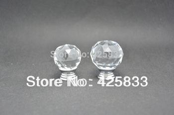 30MM K9 Clear Crystal Furniture Handle Drawer KnobK9 Clear Ctrstal Pull Furniture Handle Drawer Knob