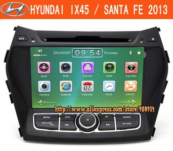 New Free Shipping Car Radio For Hyundai santa fe ix45 DVD GPS Navigation With Ipod MP3/4 AM/FM Stereo Gift Map Card