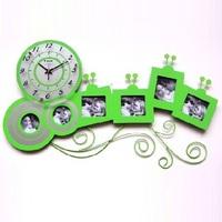 gz041 Free shopping EMS 1pcs European fashion creative clock photo frame quartz adornment big clock modern mute wall clock