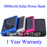 Shipping by DHL/UPS, 30 pcs 5000mah Solar Charger Solar Panel power bank for iPhone/iPad/Samsung.