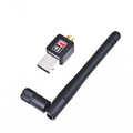 Mini USB WiFi Wireless 802.11 n/g/b 150M LAN Adapter Network Card with Antenna Free Shipping(China (Mainland))