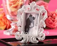 """White Baroque"" Elegant Place Card Holder/Photo Frame For Wedding (Set of 20 PCS) and Whole Free Shipping"