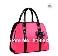 Fashion women's handbag hello kitty bags 5 Colour 2012 Bow Ladies handbag c129 free shipping