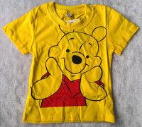 2013 summer clothing children's clothing boys and girls   Cute Bear cotton short-sleeved T-shirt