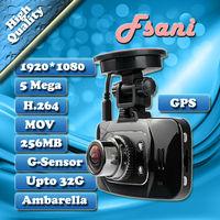 Original Edition All In One Ambarella GPS 170 Degrees 2.7inch GS8000 Car Dvr Recorder Camera Black Box Full HD1920* 1080P 30fps