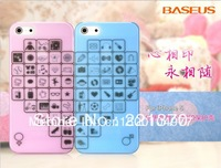 BASUES case for Iphone5 , lovers series, special design with exquisite printing, ultrathin,light and translucent,