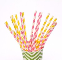 100pcs/lot & 195 color chevron Striped Polka Dot Star Heart Cow Flower Drinking Paper Straws Party Decoration