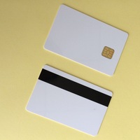 Free Shipping 50PCS/Lot 2 IN 1 Sle4428& Hi-Co Magentic Chip Smart blank Composite Card/EMV Card with 1024 bytes EEPROM memory