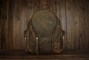 2013 new vintage Backpack / School Bag sport Packbag, crazy horse leather Backpacks