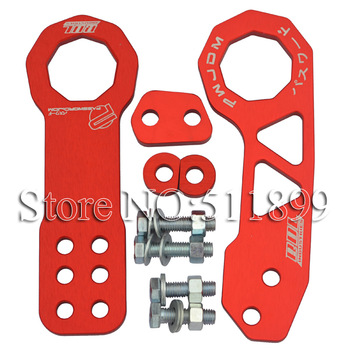 Password JDM Tow Hook Racing Tow Hook Red Color Front And Rear Tow Hooks