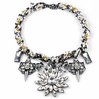 N00069 2014 wholesale necklaces pendants fashion wholesale vintage choker statement necklace women jewelry at Factory Price