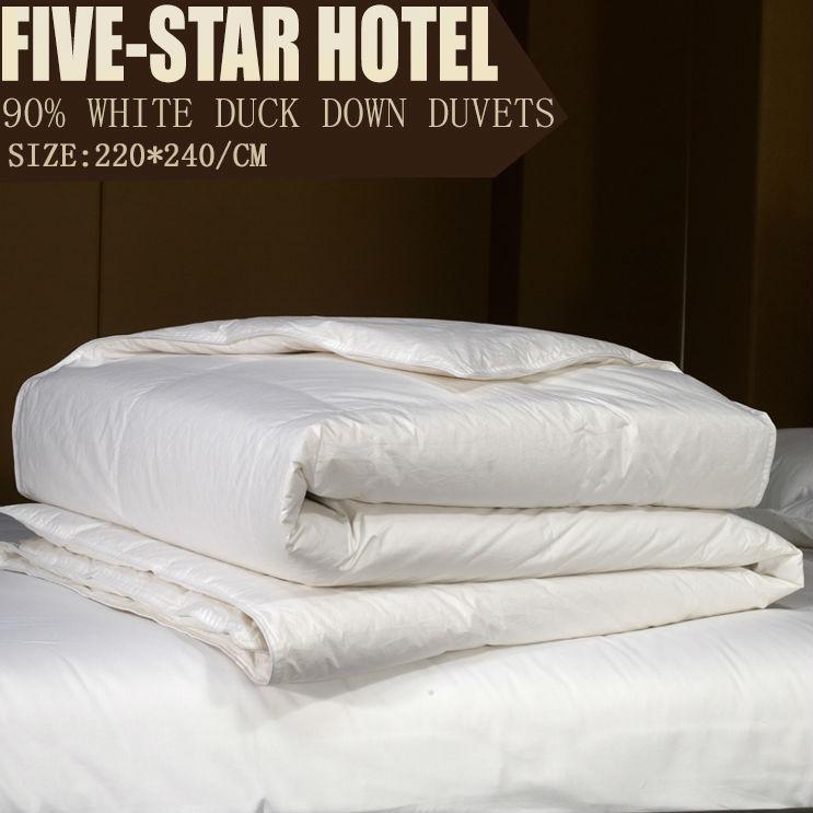 Piumino/materasso pad/tessili per la casa nuovo arrivo/90% anatra bianca piumini/ispessimento trapunta/220*240cm/trapunta matrimoniale/consolatore