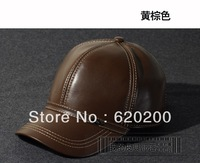Free shipping Hat male 2013 genuine leather baseball sheepskin