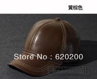 Free shipping Hat male 2013 genuine leather baseball sheepskin