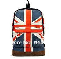 UK/US flag Stripes student school backpack travel fashion Unisex bag