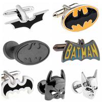 Fashion Jewelry Super Hero Batman Metal Cufflinks Designer Men's Cufflink Marvel Comics French Shirt Accessories Cuff links