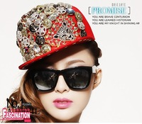 HOT free shipping Women Rivet Cap  Punk Rock Hip hop fashion unisex Studs Hat leopard animal studded and Spiked snapback hats