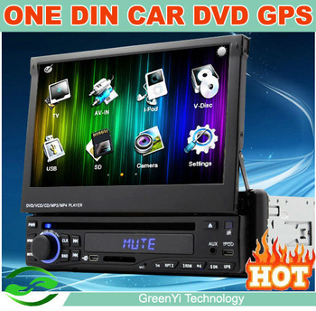 "2013 In Dash HD 7"" Touch Screen 1 Din Car Radio CD Player with GPS Navigation DVD Bluetooth Phone"