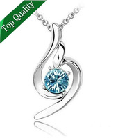 Promotion Price Free Shipping Gold Plated Crystal Pendent Necklace made With SWA Elements Free Shipping Cheap Price