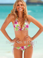 Free Shipping Victoria Bikini Swimsuits for Women,original push up beach wear sexy swimwear,Wholesale Women's bikinis set BLWHSA