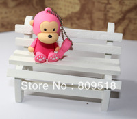 Cute Pink Monkey Memory Flash USB Drive 1GB 2GB 4GB 8GB 16GB 32GB Thumb Stick 2.0 Pendrive