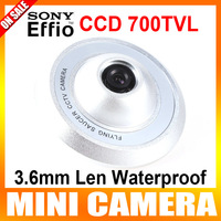 "1/3"" Sony Super HAD CCD II  700TVL 3.6mm Len Waterproof CCTV Camera The Shape Of UFO Security Camera"