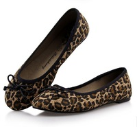 2013 New Fashion European style Women Flat Heel Single Shoes Canvas Leopard Print Boat Shoes Flats Women's Casual shoes