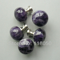 Free Shipping Novelty Items,30mm Cute Purple Amethyst Crystal Knobs Handles for Bedroom Cabinet Doors,Furniture Drawers,Dressers