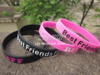 BFF - Best Friends Forever Wristband, Silicon bracelet, 2colours, 100pcs/lot
