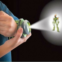 Free shipping Alien Force Toy Watch/Protector of Eart Ben 10 Hacker Projector watch for children gift