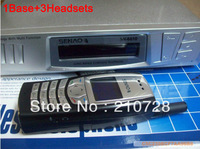 SENAO 6610 Portable cordless telephone SN6610 1 base support 9 extra handset Duplex Intercom <A set of 1Base+3Headsets>