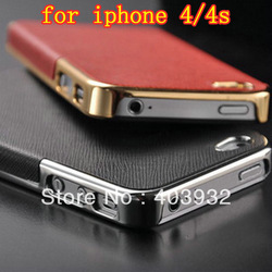 Ultra Slim Platinum Design Hard Case For iPhone 4S 4 luxury iPhone Case Cover Accessory FREE SHIPPING(China (Mainland))