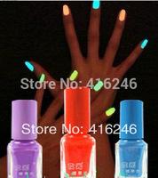 3pcsThe series of 20 color Fluorescent Neon Luminous Nail Polish Glow in Dark Nail Varnish Nail Enamel Free shipping