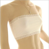 Modal Seamless Strapless Bra White Tube Top Bandeau Soft Sexy Wrap Chest Vest WRAP CHEST 2Pcs/lot W5002