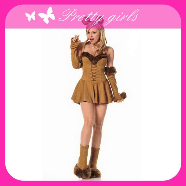 brown cute fashion women animal mascot