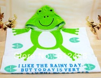 Free Shipping Hot sell Cotton free size Baby bath towels bathrobes for kids