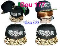 snapback hats leopard hat 10pcs lot  COMME DES FUCKDOWN SNAPBACK strapback hat strap back snapbacks free shiping