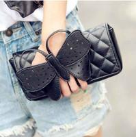 Designer Butterfly bow-knot Clutch Purse wristlet evening bag Chain Bags wallet Handbag Shoulder Free Shipping W1260