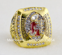 "free shipping replica little""A"" 18k gold or rhodium plated  Alabama crimson tide championship ring with crystal"