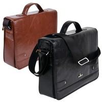 2013 High Quality Men's Leather Shoulder Messenger Business Briefcase Bag Handbag 2Colors  9389