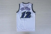 Free Shipping,#12 John Stockton 2013 Rev 30 Basketball jersey,Embroidery logos,Size S--3XL,Accept Mix Order