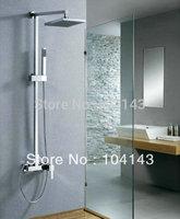"8"" Rainfall Shower head+ Arm + Control Valve+Hand spray Shower Faucet Set LJ-50070"