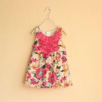 girls floral dress kids dresses girls fashion kids clothing 2T-8T