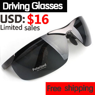 Hot-selling male sunglasses polarized sunglasses fashion sports glasses mirror driver 6806