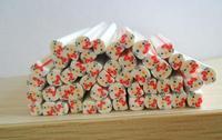 50pcs hello kitty type Fimo Canes Rods Sticks Sticker DIY Slice Tips Decoration(red)