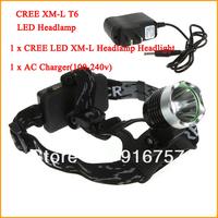Newest Cheap Hot Sale bicklight headlamp 1600 Lumens CREE XM-L T6 LED Headlamp Headlight