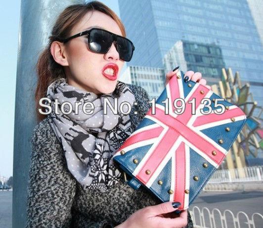 Ennabags vivi flag bag navy torx flag british style rivet bag portable women's one shoulder handbag(China (Mainland))